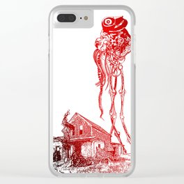 BATTLE OF THE WORLDS Clear iPhone Case