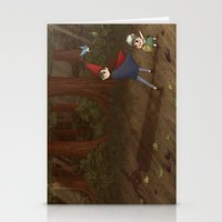 over the garden wall Stationery Cards featuring Over the Garden Wall by Kiell R.