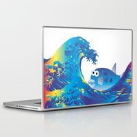 hokusai Laptop & iPad Skins featuring Hokusai Rainbow & Globefish  by FACTORIE