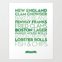 Boston — Delicious City Prints Art Print