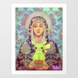 virgin mary pica Art Print