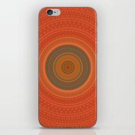 Vintage Orange Turquoise Pattern Mandala iPhone Skin