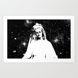 Mary Watches from the Heavens Art Print