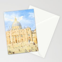 Franz Alt - St. Peter's Square in Rome - Digital Remastered Edition Stationery Cards