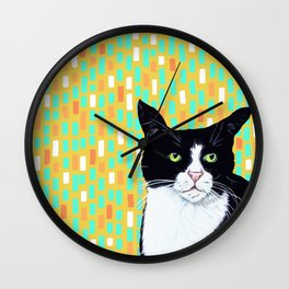 Portrait of Jasper the Cat Wall Clock
