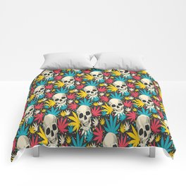 SKULL CANNABIS PATTERN Comforters