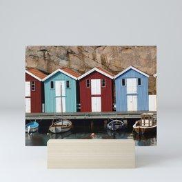 Beach cabin Mini Art Print