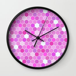 Purple Mermaid Colourful Tiles Wall Clock