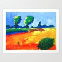 psychadelic Art Prints featuring Psychadelic Landscape by Anton van Dort