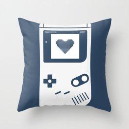 Gameboy navy Throw Pillow