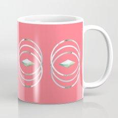 Minimalist Waves in Watermelon Mug