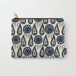 paisley block indigo ivory Carry-All Pouch