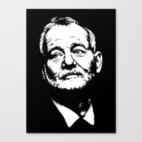 bill murray Canvas Prints featuring Bill Murray by Laura Lindsey