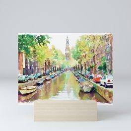 Amsterdam Canal 2 Mini Art Print