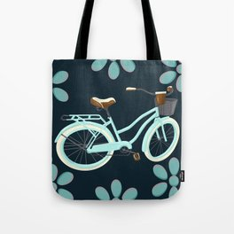 My Bike Floral Tote Bag