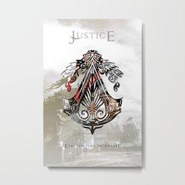 Ezio Auditore Da Firenze - Justice Metal Print