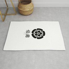 Oda Clan Family Crest - Black Version Rug