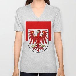 Flag of brandenburg Unisex V-Neck