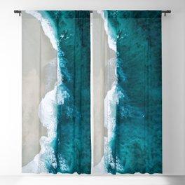 Ocean Divide Turquoise Sea Blackout Curtain