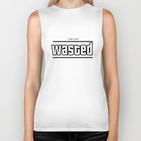 wasted rita Biker Tanks featuring WASTED by Chris1717