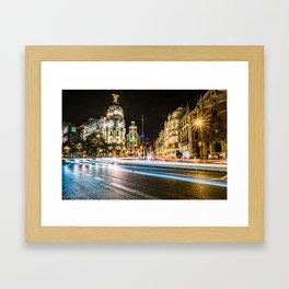Gran Via (Madrid) Framed Art Print