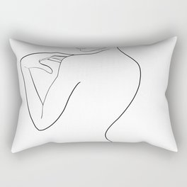 une ligne Rectangular Pillow