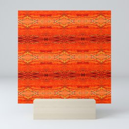 Orange Aztec Pattern 2 | Corbin Henry Mini Art Print