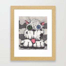 Toxie the Zombie Dog Framed Art Print
