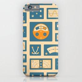 Mission Control - Peach & Blue iPhone Case