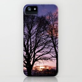 Woodland Edge Sunset iPhone Case