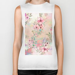 Botanical Fragrances in Blush Cloud Biker Tank