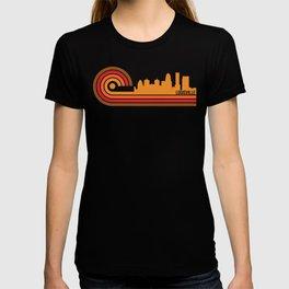 Retro Style Louisville Kentucky Skyline T-shirt