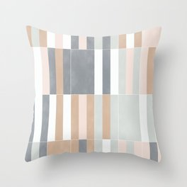 Muted Pastel Tiles 03 Throw Pillow