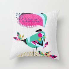 he loves me / he loves me not? Throw Pillow