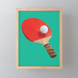 Ping Pong Paddle polygon art Framed Mini Art Print