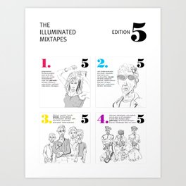 The Illuminated Mixtapes, Edition 5 Art Print