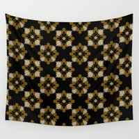 floral pattern Wall Tapestries featuring Floral Pattern by Christina Rollo