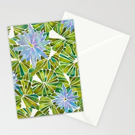 Water Lilies – Lavender & Green Palette Stationery Cards