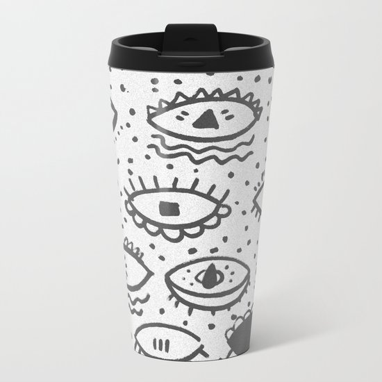 EYES PATTERN Metal Travel Mug