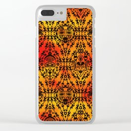 Pattern with African Mask Clear iPhone Case