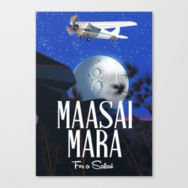 Maasai Mara Safari poster Canvas Print