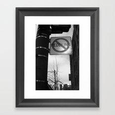 Sign Of the Times Framed Art Print