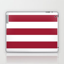 University of Alabama Crimson - solid color - white stripes pattern Laptop & iPad Skin