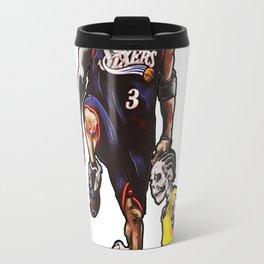 Allen Iverson step over Lue Art Travel Mug