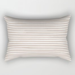 Skinny Stroke Horizontal Nude on Off White Rectangular Pillow