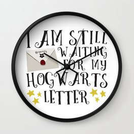 Waiting For My Letter Wall Clock