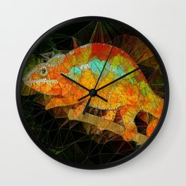 welcome to the jungle, abstract chameleon Wall Clock