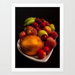 Colorfull Fruit Art Print