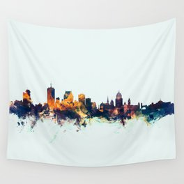 Quebec Canada Skyline Wall Tapestry