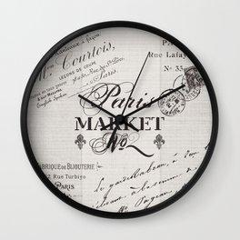 paris market Wall Clock